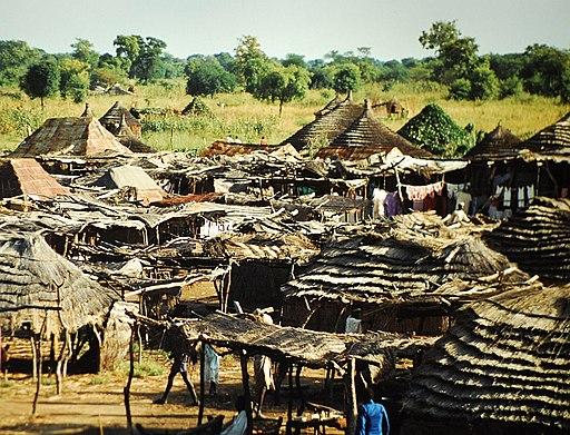 Huts outside Wau,Sudan