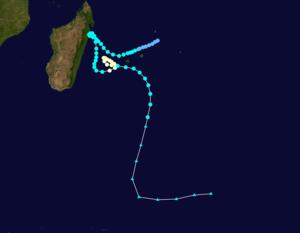 Cyclone Hyacinthe - Image: Hyacinthe 1980 track