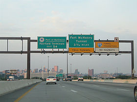 L'Interstate 95, direction nord, à la hauteur de la sortie 51 (Washington Blvd.), au sud du centre-ville de Baltimore