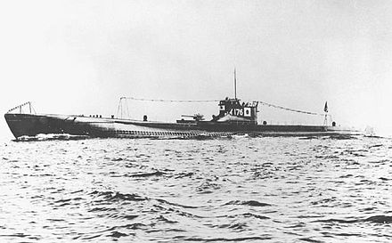 I-176, a KD7 type Kaidai-class submarine. The three suspected attackers were all of this type. I-176 submarine.jpg