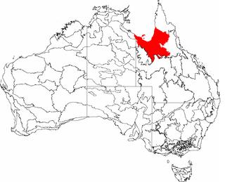 Gulf Plains - The interim Australian bioregions, with Gulf Plains in red