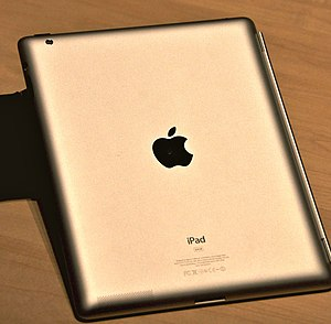 English: Rear of iPad 2 at Apple's first produ...