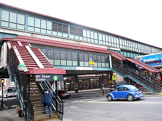 167th Street (IRT Jerome Avenue Line) - Eastern stairs