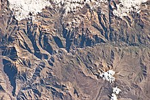Просмотр глубокой долины из космоса