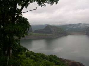 Idukki Dam across the Periyar river