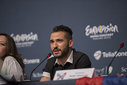 Ilias Kozas, ESC2013 press conference 02.jpg