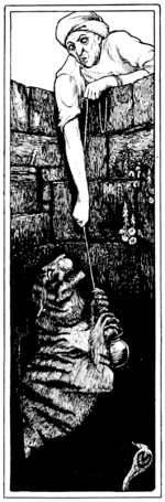 Illustration inset at page 72 of Indian Fairy Tales (1892).png