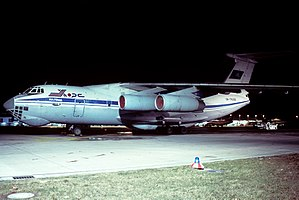 Khors Air - A Khors Air Ilyushin Il-76 at Düsseldorf Airport in 1996.