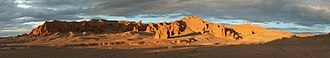 Red beds - Panorama of the Flaming Cliffs of Mongolia
