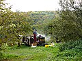 Imker an seinem Bienenstock im Naturpark Schönbuch bei Bebenhausen - panoramio.jpg