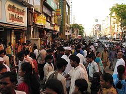 India - Chennai - busy T. Nagar market 1 (3059480968).jpg