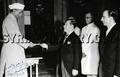 Indian President Rajendra Prasad receiving Syrian Ambassador Najib al-Armanazi - 1951.png
