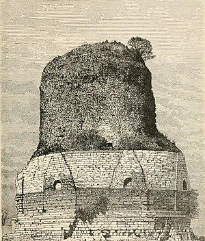 Dhamek Stupa - Stupa in 1891