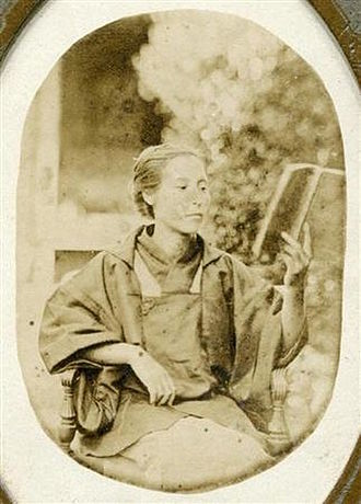 Siebold's daughter Kusumoto Ine (1827-1903), first female Japanese western physician and court physician to the Japanese empress Ine Kusumoto.jpg
