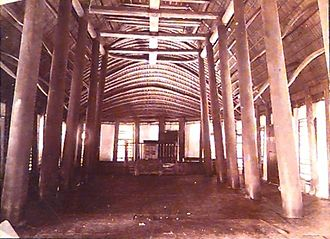 Niue - Photo by Thomas Andrew of the interior of church building in Alofi, 1896.