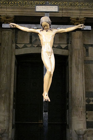 Perizoma (loincloth) - Crucifix by Michelangelo is a rare example of naked Jesus