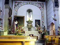 Interior de la Parroquia de san Sebastián Mártir del Pueblo de Axotla.jpg
