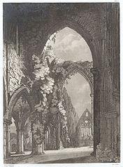 Interior of Tintern Abbey, Monmouthshire