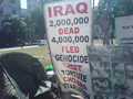Iraq War Protesters in Parliament Square.png