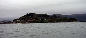 Mancera Island - Mancera Island, view from Niebla, Chile