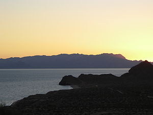 Tiburón Island - View of the southern part of Tiburón Island from Bahía de Kino