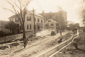 History of Italian Americans in Boston - Italian-American WPA workers doing roadwork in Dorchester, 1930s.