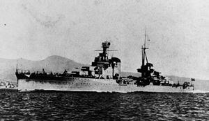Italian cruiser Bolzano - Bolzano shortly after completion
