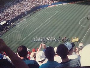 1994 FIFA World Cup - Italy and Norway getting ready to play at Giants Stadium.