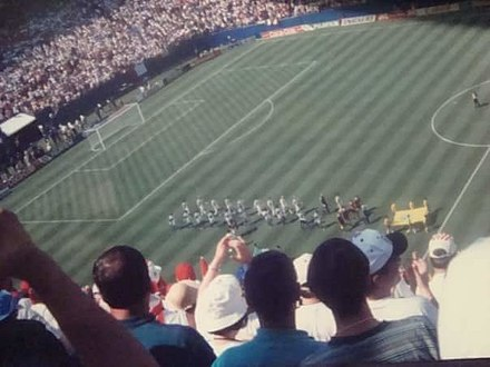 Italy and Norway getting ready to play at Giants Stadium ItalyVsNorway1994inUSA.jpg
