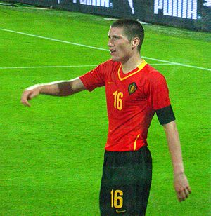 Sébastien Pocognoli - Pocognoli playing for Belgium in 2008