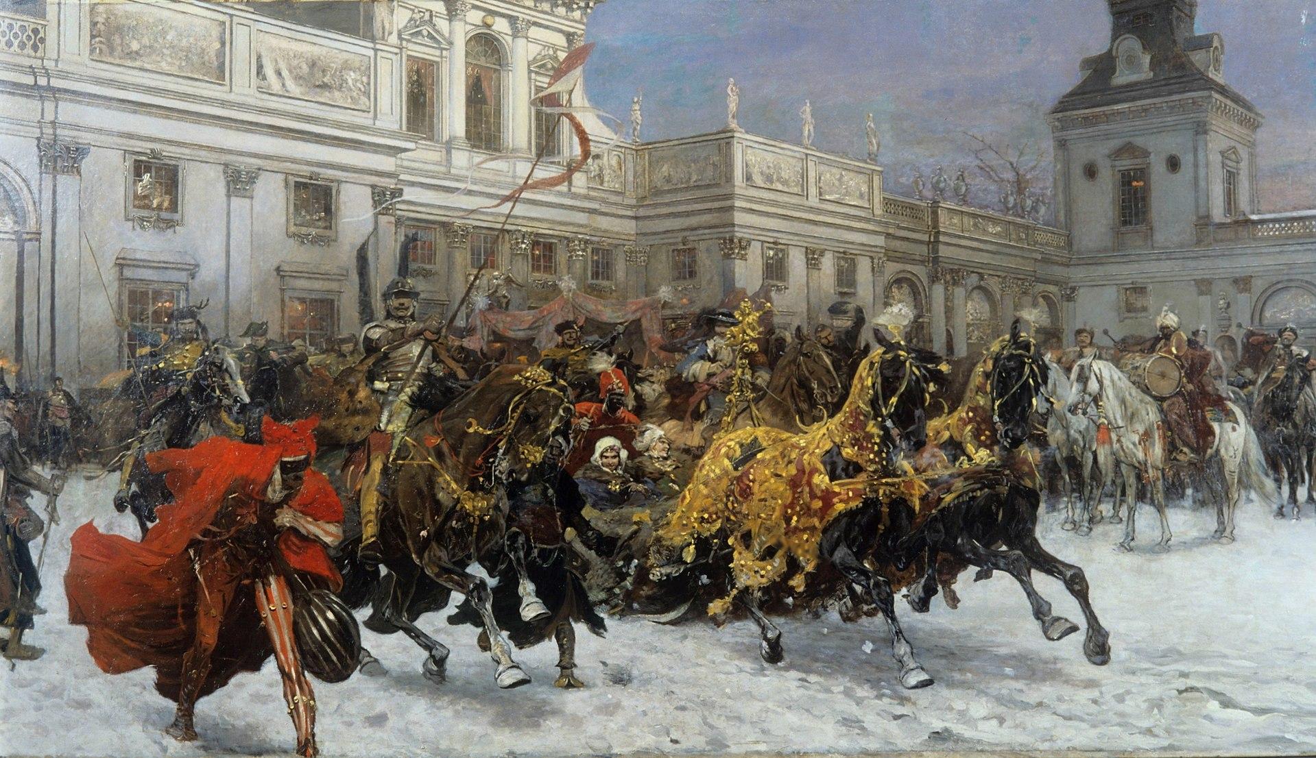 Юзеф Брандт - Wyjazd Marysieńki z Wilanowa.jpg