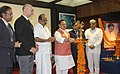 J.P. Nadda lighting the lamp to inaugurate the First International Symposium on Hospital Medicine, at Amrita Institute of Medical Sciences and Research Centre, in Kochi, Kerala on December 05, 2015.jpg