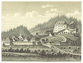 Laupen Castle - Laupen (c.1850)