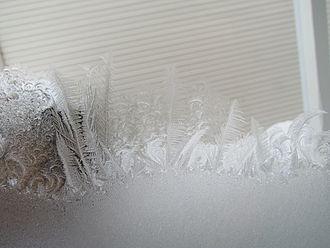 Jack Frost - Jack Frost pattern on window in Gatineau, Quebec