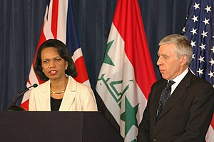 Jack Straw - Straw appears at a press conference with United States Secretary of State, Condoleezza Rice