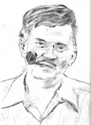 Jack Ritchie - Pencil sketch of Jack Ritchie.