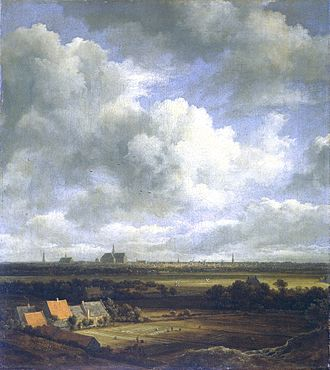 View of Haarlem from the Northwest, with the Bleaching Fields in the Foreground - Image: Jacob Isaaksz. van Ruisdael 001