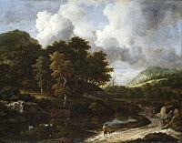 Jacob van Ruisdael - A wooded landscape (1660s).jpg