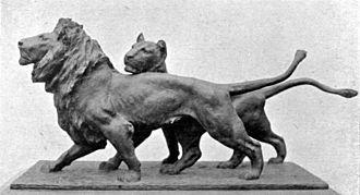 Giacomo Merculiano - Lion and Lioness