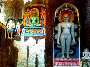 Padmakshi Temple - Image: Jain Tirthankara Reliefs at Padmakshi Gutta 04