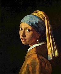 """""""Turbaanipäinen tyttö"""", Vermeerin maalaus, jonka ympärille kirjan tapahtumat kerääntyvät"""
