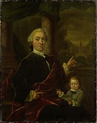 Family Portrait of Jan van de Poll, Banker and Burgomaster of Amsterdam with his young Son Harman
