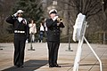 Japan Maritime Self-Defense Force Chief of Staff lays a wreath at the Tomb of the Unknown Soldier in Arlington National Cemetery (33040492795).jpg