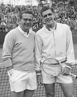 Jaroslav Drobný and Bob Mark 1958.jpg