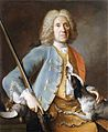 Jean-Baptiste Oudry (circle of) - Portrait of a Sportsman holding a Gun with a Hound.jpg