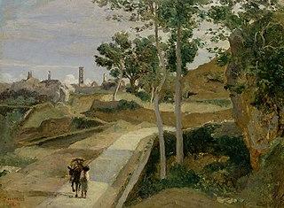 Volterra. Route descendant de la ville