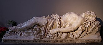Jean Del Cour - Reclining Christ, 1696, Sint-Pauluskathedraal, Liege.