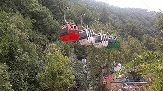 Jeita Grotto - Cableway that transports visitors to the area of the grotto