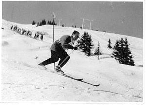 George Jellicoe, 2nd Earl Jellicoe - Jellicoe skiing in France.