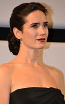 Close-up of actress Jennifer Connelly's face; her own facial features provided inspiration for those of Jasmine.